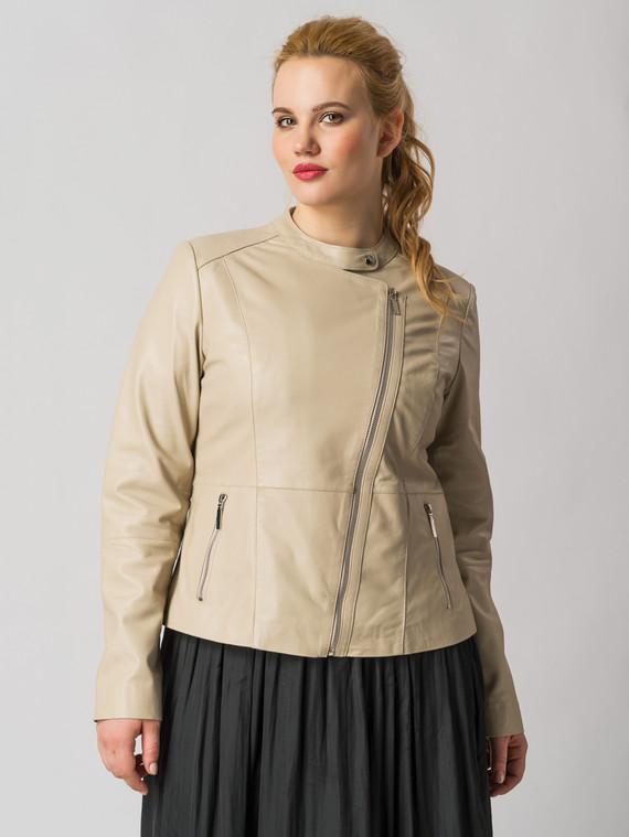 Кожаная куртка кожа , цвет бежевый, арт. 01005491  - цена 11290 руб.  - магазин TOTOGROUP