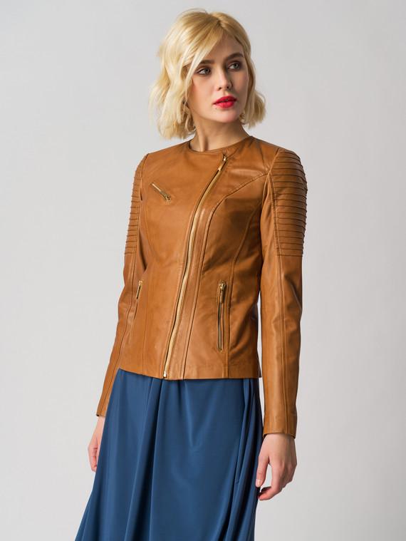 Кожаная куртка кожа , цвет рыжий, арт. 01005540  - цена 9490 руб.  - магазин TOTOGROUP