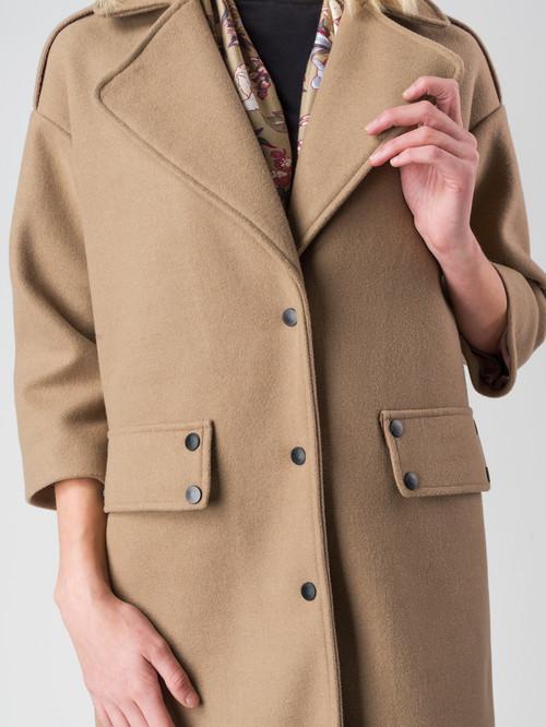 Текстильное пальто артикул 01005553/44 - фото 4