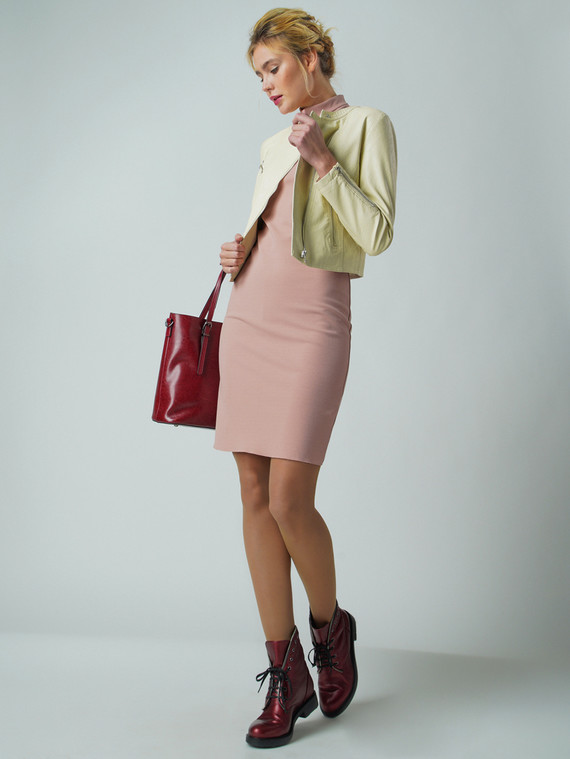 Кожаная куртка эко кожа 100% П/А, цвет желтый, арт. 01005785  - цена 4260 руб.  - магазин TOTOGROUP