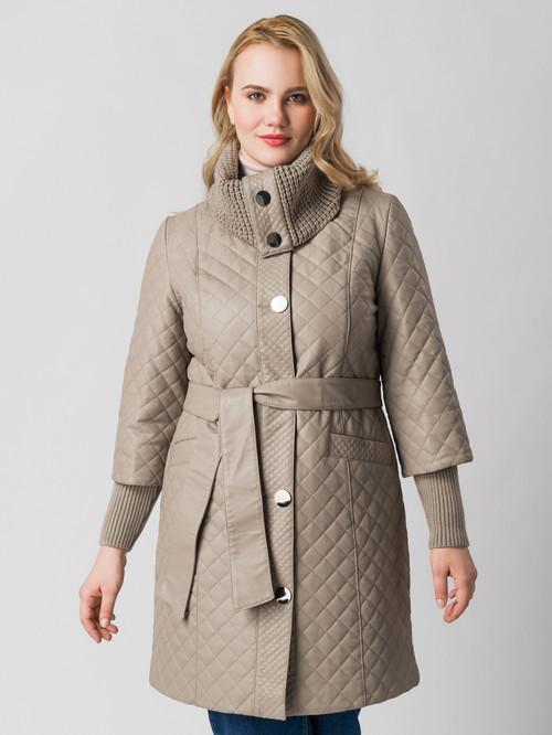 Кожаное пальто артикул 01005787/48 - фото 2