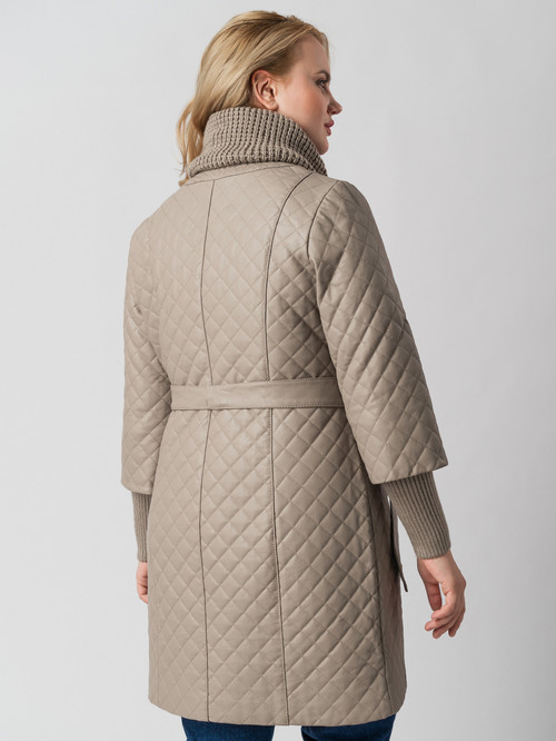 Кожаное пальто артикул 01005787/48 - фото 3