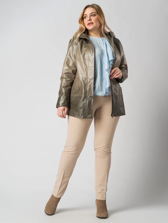 Кожаная куртка эко кожа 100% П/А, цвет бежевый, арт. 01005793  - цена 6990 руб.  - магазин TOTOGROUP