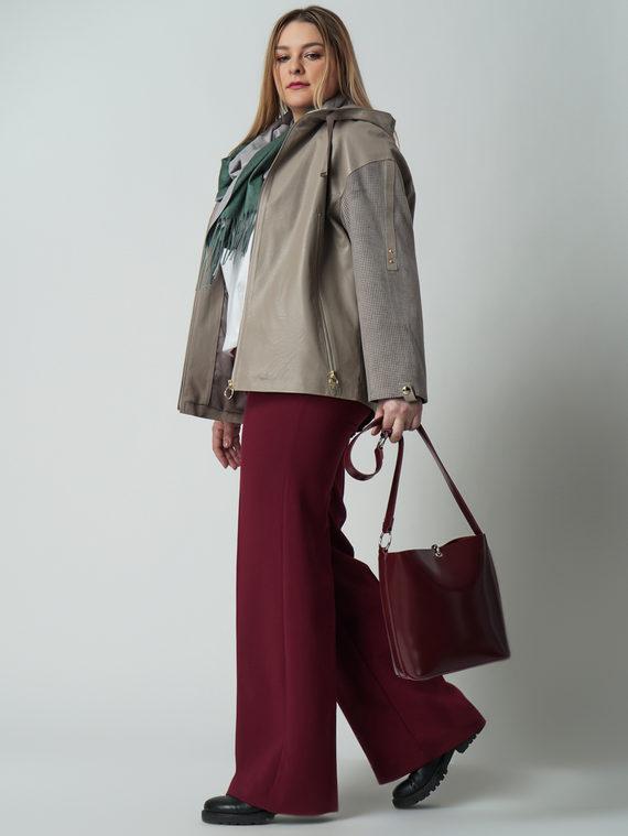 Кожаная куртка эко кожа 100% П/А, цвет бежевый, арт. 01005794  - цена 6290 руб.  - магазин TOTOGROUP