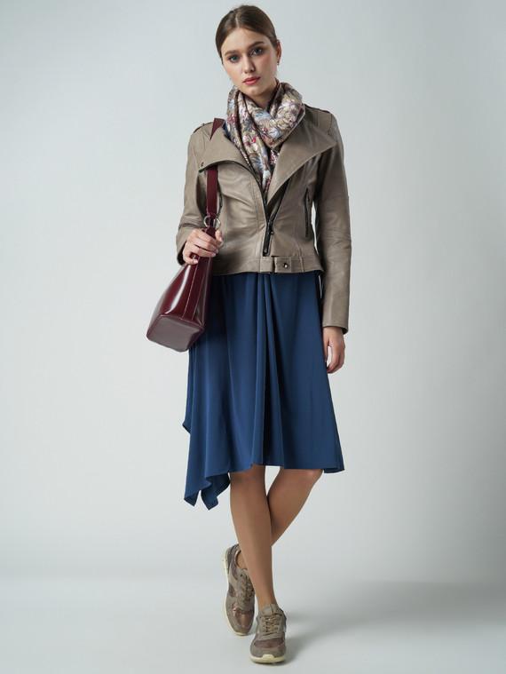 Кожаная куртка эко-кожа 100% П/А, цвет бежевый, арт. 01005797  - цена 3990 руб.  - магазин TOTOGROUP