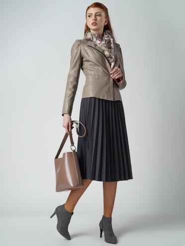 Кожаная куртка эко-кожа 100% П/А, цвет бежевый, арт. 01005798  - цена 4990 руб.  - магазин TOTOGROUP
