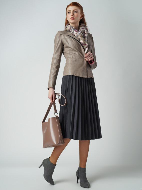 Кожаная куртка эко-кожа 100% П/А, цвет бежевый, арт. 01005798  - цена 3990 руб.  - магазин TOTOGROUP