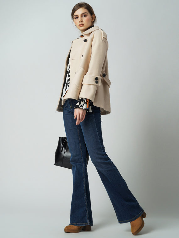 Текстильная куртка 30%шерсть, 70% п\а, цвет бежевый, арт. 01005836  - цена 4990 руб.  - магазин TOTOGROUP