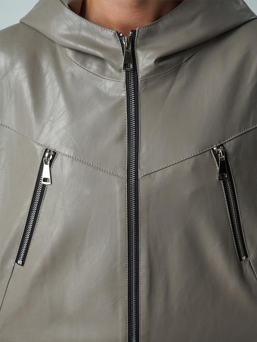 Кожаная куртка артикул 01005884/44 - фото 4