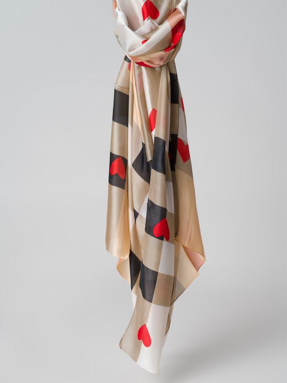 Шарф 100% шелк, цвет бежевый, арт. 01005993  - цена 1190 руб.  - магазин TOTOGROUP