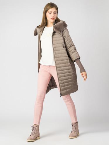 Пуховик текстиль, цвет светло-коричневый, арт. 01006349  - цена 14990 руб.  - магазин TOTOGROUP