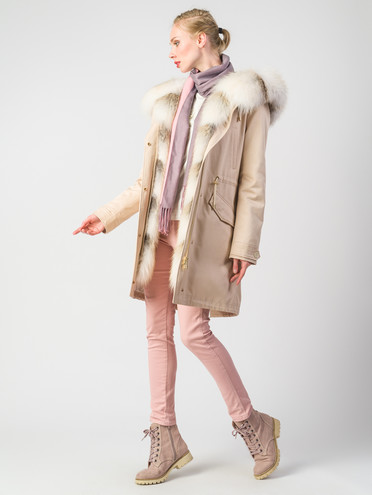 Пуховик текстиль, цвет светло-бежевый, арт. 01006377  - цена 42490 руб.  - магазин TOTOGROUP