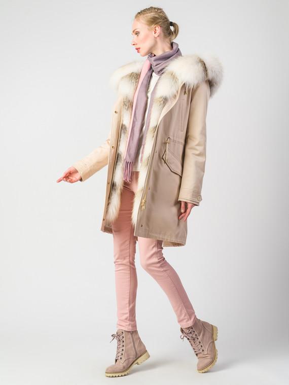 Парка текстиль, цвет светло-бежевый, арт. 01006377  - цена 42490 руб.  - магазин TOTOGROUP