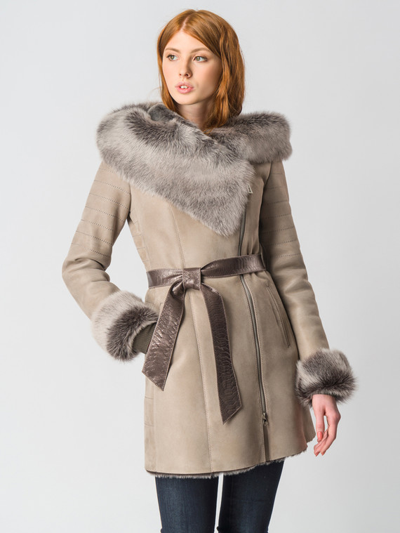 Дубленка дуб. овчина, цвет бежевый, арт. 01006432  - цена 35990 руб.  - магазин TOTOGROUP