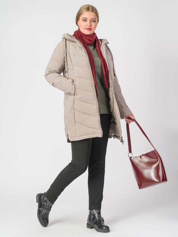 Пуховик текстиль, цвет бежевый, арт. 01006489  - цена 4740 руб.  - магазин TOTOGROUP