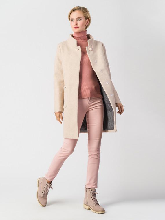 Текстильное пальто 30%шерсть, 70% п\а, цвет светло-бежевый, арт. 01006610  - цена 6630 руб.  - магазин TOTOGROUP