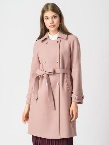 Текстильное пальто 30%шерсть, 70% п.э, цвет розовый, арт. 01006820  - цена 4490 руб.  - магазин TOTOGROUP