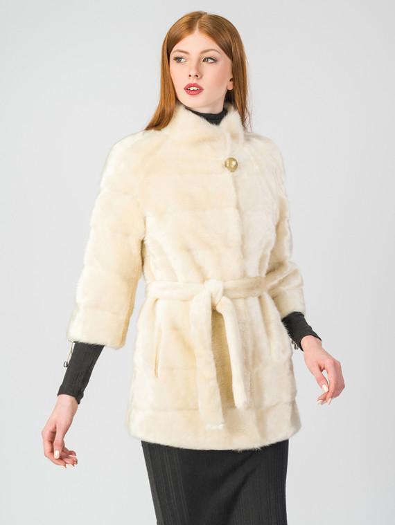 Шуба под норку мех искусственный под норку, цвет светло-бежевый, арт. 01006827  - цена 6630 руб.  - магазин TOTOGROUP