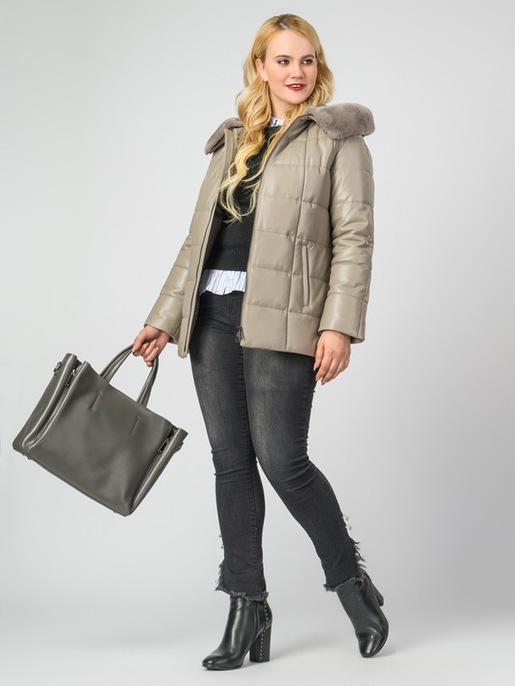 Кожаная куртка кожа , цвет бежевый, арт. 01006854  - цена 13390 руб.  - магазин TOTOGROUP
