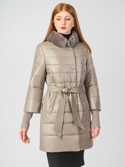 Кожаное пальто артикул 01006862/44 - фото 2