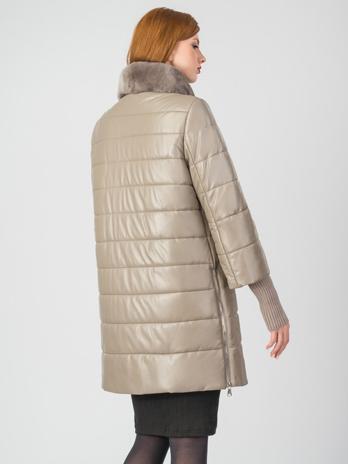 Кожаное пальто артикул 01006862/44 - фото 3