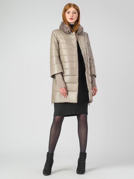 Кожаное пальто кожа , цвет бежевый, арт. 01006862  - цена 17990 руб.  - магазин TOTOGROUP