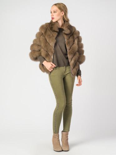 Шуба мех песец крашен., цвет светло-коричневый, арт. 01006864  - цена 13390 руб.  - магазин TOTOGROUP