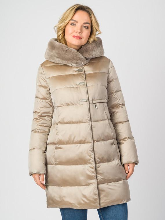 Пуховик текстиль, цвет бежевый, арт. 01006885  - цена 9490 руб.  - магазин TOTOGROUP