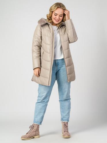 Кожаная куртка кожа , цвет бежевый, арт. 01006984  - цена 21290 руб.  - магазин TOTOGROUP