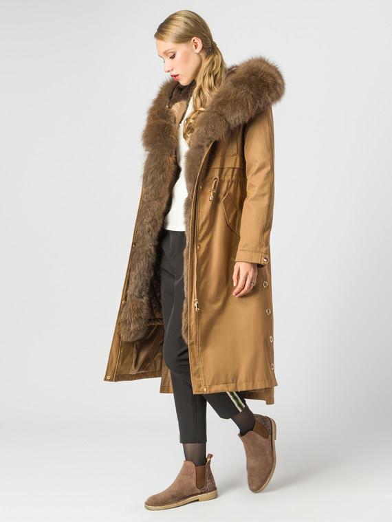 Парка текстиль, цвет коричневый, арт. 01007061  - цена 37990 руб.  - магазин TOTOGROUP