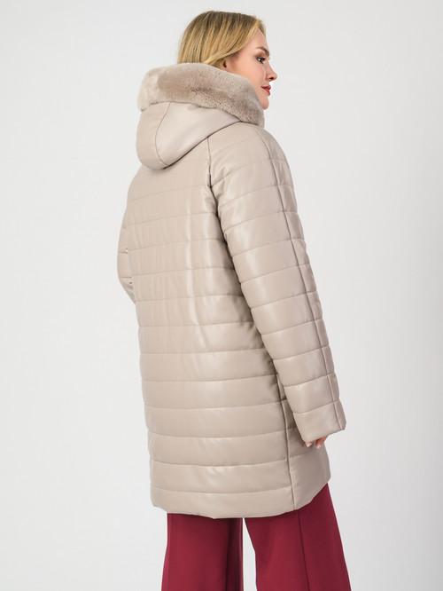 Кожаное пальто артикул 01007123/46 - фото 3