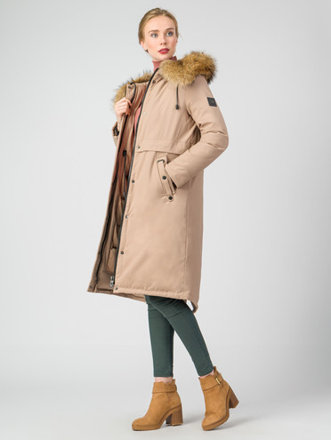 Парка текстиль, цвет бежевый, арт. 01007135  - цена 9990 руб.  - магазин TOTOGROUP