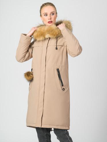 Парка текстиль, цвет бежевый, арт. 01007142  - цена 11290 руб.  - магазин TOTOGROUP