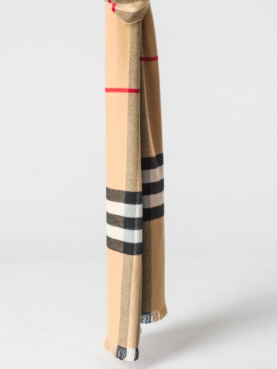 Шарф 100% кашемир, цвет бежевый, арт. 01007163  - цена 1130 руб.  - магазин TOTOGROUP