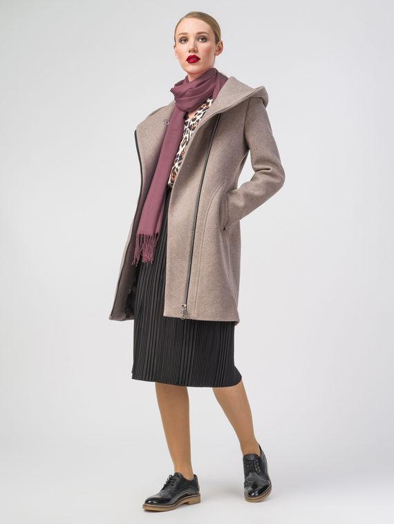Текстильное пальто 30%шерсть, 70% п.э, цвет бежевый, арт. 01107813  - цена 5890 руб.  - магазин TOTOGROUP