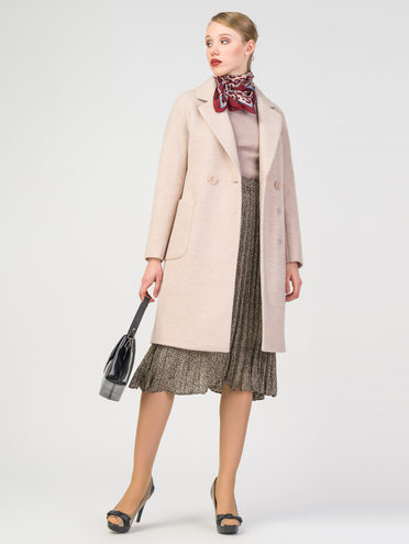 Текстильное пальто 30%шерсть, 70% п.э, цвет бежевый, арт. 01107817  - цена 6290 руб.  - магазин TOTOGROUP