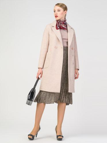 Текстильное пальто 30%шерсть, 70% п.э, цвет бежевый, арт. 01107817  - цена 4740 руб.  - магазин TOTOGROUP
