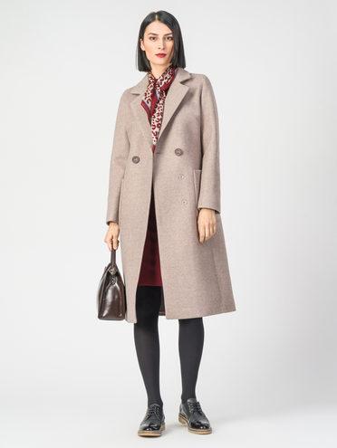 Текстильное пальто 30%шерсть, 70% п.э, цвет бежевый, арт. 01107819  - цена 4740 руб.  - магазин TOTOGROUP