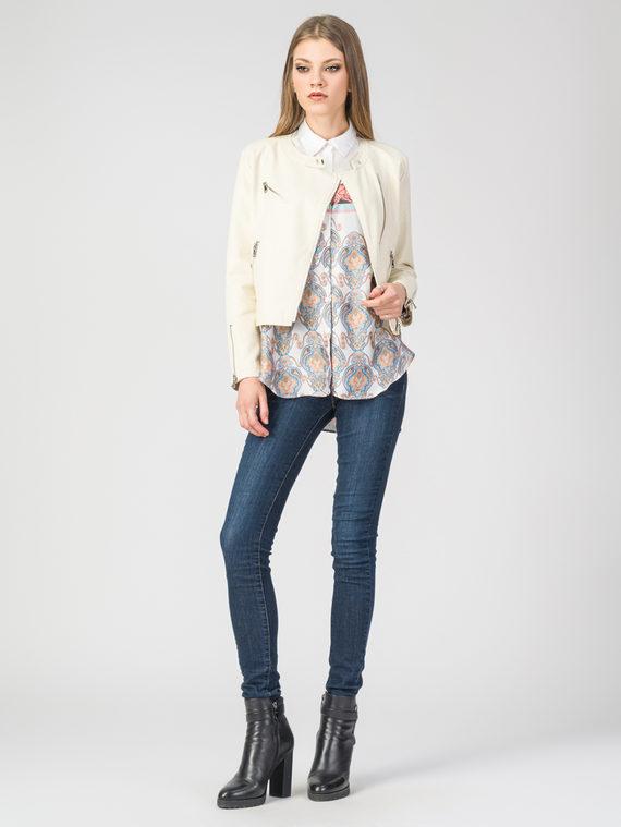 Кожаная куртка эко-кожа 100% П/А, цвет светло-бежевый, арт. 01107827  - цена 3790 руб.  - магазин TOTOGROUP