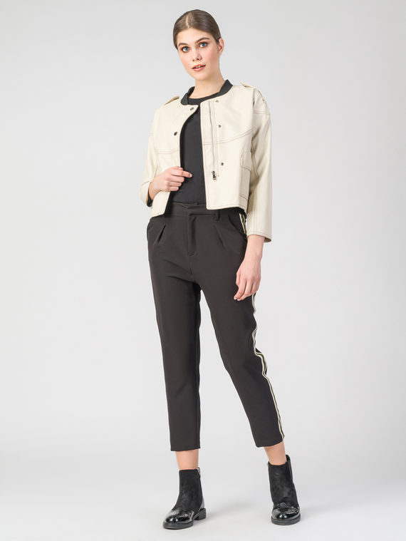Кожаная куртка эко-кожа 100% П/А, цвет бежевый, арт. 01107836  - цена 4740 руб.  - магазин TOTOGROUP