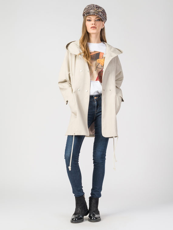 Кожаное пальто эко-кожа 100% П/А, цвет светло-бежевый, арт. 01107837  - цена 5290 руб.  - магазин TOTOGROUP