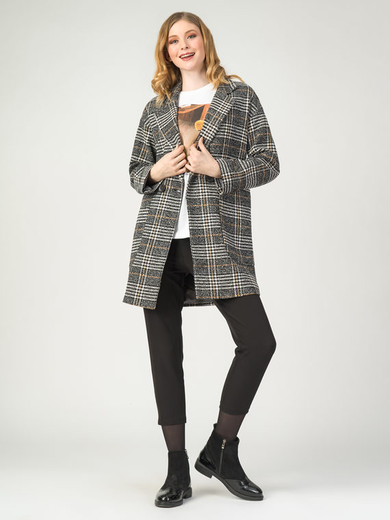 Текстильное пальто 30%шерсть, 70% п.э, цвет бежевый, арт. 01107916  - цена 3990 руб.  - магазин TOTOGROUP