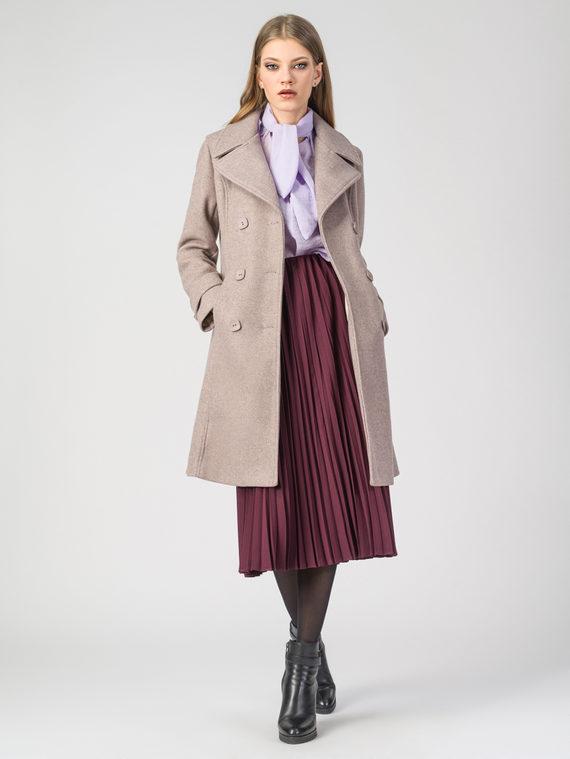 Текстильное пальто 30%шерсть, 70% п.э, цвет бежевый, арт. 01107919  - цена 3990 руб.  - магазин TOTOGROUP
