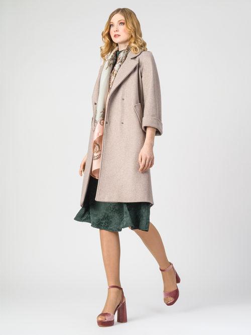 Текстильное пальто артикул 01107923/44 - фото 2