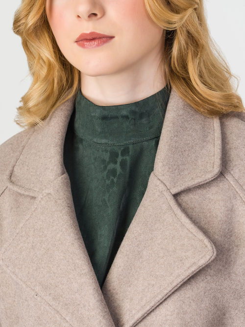 Текстильное пальто артикул 01107923/44 - фото 4