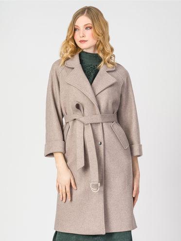 Текстильное пальто 30%шерсть, 70% п.э, цвет бежевый, арт. 01107923  - цена 5290 руб.  - магазин TOTOGROUP