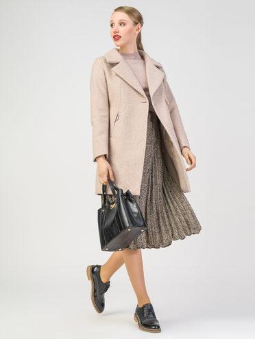 Текстильное пальто 30%шерсть, 70% п.э, цвет бежевый, арт. 01108080  - цена 4490 руб.  - магазин TOTOGROUP