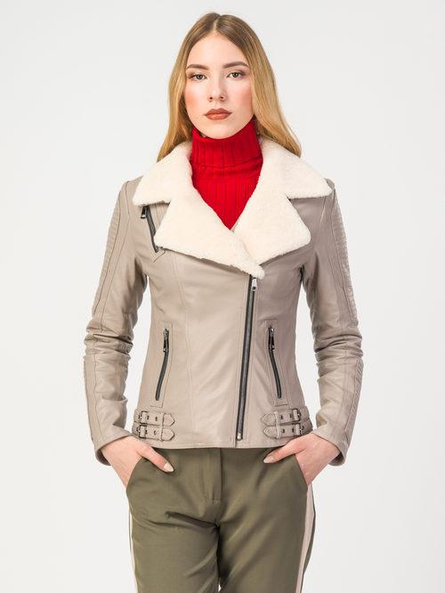 Кожаная куртка артикул 01108094/42 - фото 2