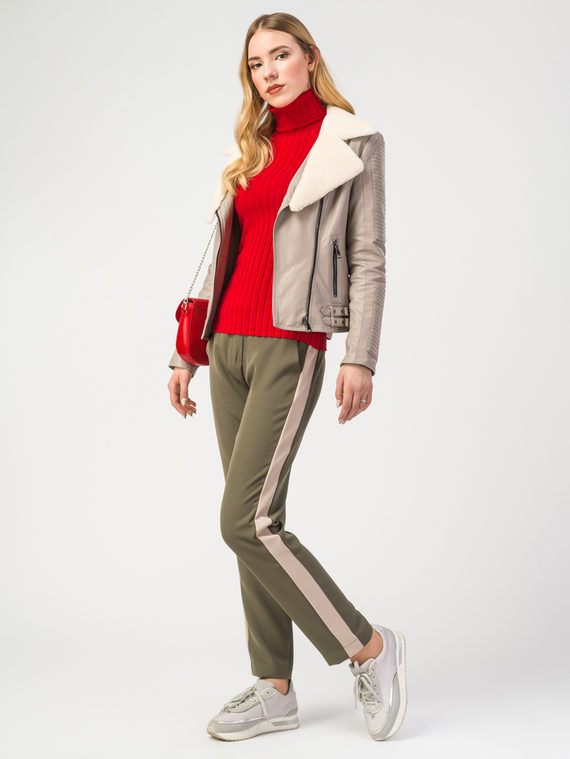 Кожаная куртка эко-кожа 100% П/А, цвет бежевый, арт. 01108094  - цена 9990 руб.  - магазин TOTOGROUP
