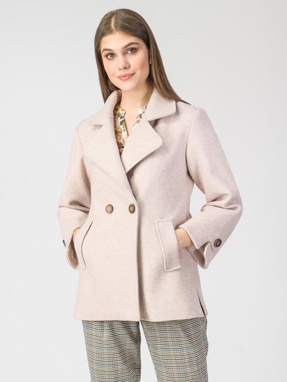 Текстильная куртка 30%шерсть, 70% п.э, цвет бежевый, арт. 01108108  - цена 4740 руб.  - магазин TOTOGROUP
